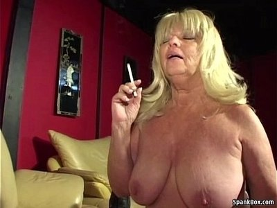 cock   granny   older woman   smoking   titjob