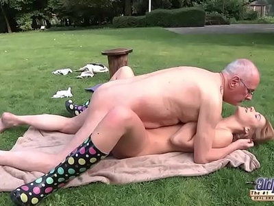 beautiful   blowjob   fuck   grandpa   old and young   wild